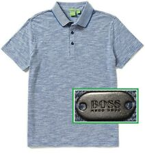 NWT Hugo Boss Green Label By Hugo Boss Flame Mouline Short Sleeve Polo Shirt