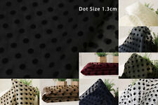 Organza fabric Mini Dot Flocking Skirt Decor Craft Costume Wedding Dress Ribbon