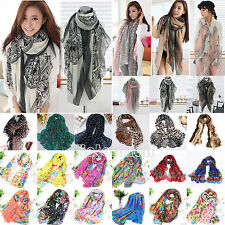 Fashion Womens Ladies Long Scarf Wrap Shawl Headscarf Large Silk Stole Scarves