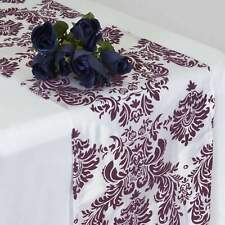 20 Pack Flocking Damask Table Runners Wedding Party Decoration 5+ Colors!