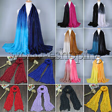 New Womens Ladies Shade Pashmina Scarf Stole Shawl Wrap Soft Long Voile Scarves