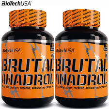 BRUTAL ANADROL 90/180 Caps. Testosterone Enhancer Hormone Booster Anabolic PCT