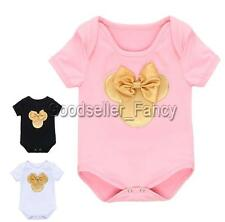 Newborn Baby Girl Clothes Romper Jumpsuit Minnie Mouse One-piece Bodysuit Cute