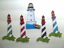 3D - U Pick - HS3 Lighthouse Barn Birdhouse Houses Scrapbook Card Embellishment