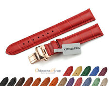 14mm Women Genuine Calf LEATHER Watch BAND Ladies Dress Watch Strap Deployant