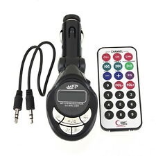 4in1 LCD Car MP3 Player Wireless FM Transmitter USB TF Card + Remote Control Lot
