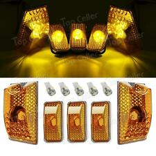5PC 264160AM Amber Cab Roof Top Marker Lamps+T10 White 5050 LED for 03-09 Hummer