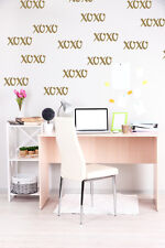 Hugs and Kisses Wall Decal, Wedding Decorations, XOXO Wall Decor, Valentines Day