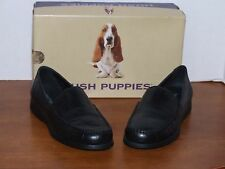 Hush Puppies Hudson Black Leather Loafers Shoes