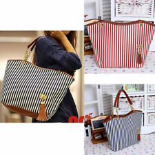 Womens Canvas plaid Handbags Tote Satchel Beach Shoulder shopping Bags Lot KG