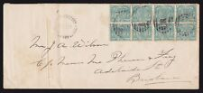 PAPUA 1895 commercial cover Queensland QV ½d block BNG postmarks UNIQUE!