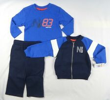 Nautica Baby Boys' 3 Piece Set Fleece Long Sleeve Tee Fleece Pant size 12 months
