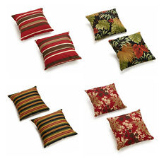 Outdoor Decor Pillows Floral/Striped Accent Fade Resistant Throw Pillow Set of 2