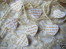 PERSONALISED Wedding CONFETTI  YOUR NAMES IN COLOUR for table or throwing