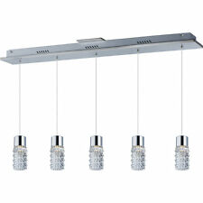 ET2 Lighting ET2-E20775-18PC LED Five-Light Pendant Polished Chrome