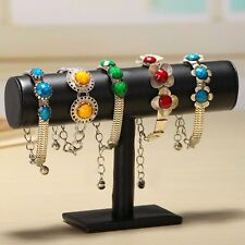 Velvet Bracelet Chain Watch T-Bar Rack Jewelry Hard Display Stand Holder P5@