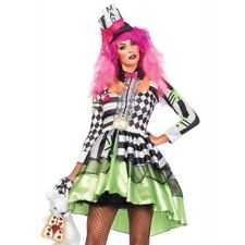 Mad Hatter Womens Alice In Wonderland Halloween Costume Fancy Dress Party Outfit