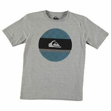 Kids T Shirt Crew Neck Quiksilver Checked Disk Short Sleeve Junior Boys New