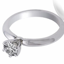 Engagement Ring Natural Diamond 0.65 CT G VS1 14K White Gold Size 6.5 Enhanced