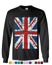 Union Jack Long Sleeve T-Shirt United Kingdom Distressed British Flag