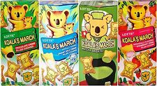 LOTTE Koala's March Creme Cookie (Chocolate, Strawberry, Milk, Matcha Green Tea)