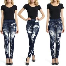 New Women's Sexy Print Beautiful Girl Leggings Stretchy Jeggings Tight Pants