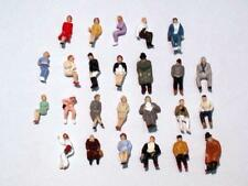 Lot 25pcs-500pcs 25 styles NEW painted 1/87 scale HO figures seated passengers