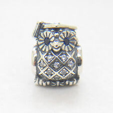 Authentic Genuine S925 Sterling Silver Graduate Owl CZ Charm Bead