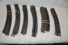VINTAGE HO SCALE CURVED TRACK-Various Radius Lot of 66 pcs.