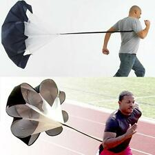 """New Speed running 56"""" Sports Chute resistance exercise training parachute N1I4"""