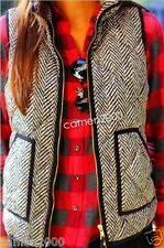 NWT J.Crew Factory Excursion Quilted Puffer Herringbone Vest Small Free Ship