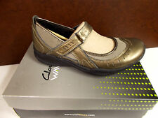 Clarks Ladies Wave Cruise Pewter Mary Jane Med. Width