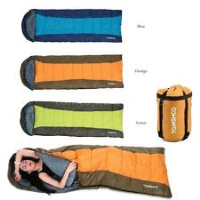 Hooded Envelope Sleeping Bag Camping Travel Hiking Multifunction Outdoor YC P8V8