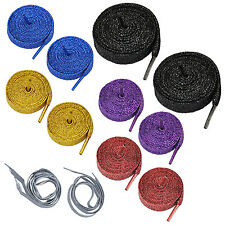 "47"" Glitter Flat Coloured Shoelaces Boot Laces YMort Dance -Gold YM"