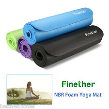 10mm/15mm Yoga Sport Pilates Mat NBR Thick Exercise Fitness Blanket Pad Non-Slip
