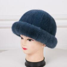 Genuine 100%Real mink Fur hat Women's girl Winter warm Russian fur hat outdoor