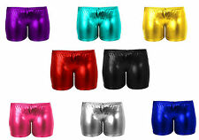 New Womens Ladies Metallic Wet Look Hot Lycra Shiny Pants Shorts Size S/M M/L