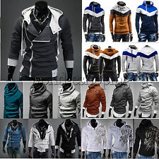 Mens Long Sleeve Hoodie Jacket Coat Pullover Jumper Sweatshirt Casual Shirt Tops