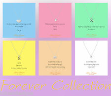 Lolusodesigns Forever Love Personalised Wish Gift Card Silver Gold Necklace