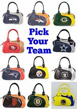 NFL,MLB,NBA Team Perfect Bowler Purse Hand Bag