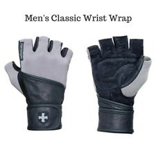 Harbinger Classic Wristwrap Weight Lifting Gloves - Gray/Black  Style No 130