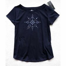 NWT Tommy Hilfiger Women's Short Sleeve Knit Top, Navy Blue, Size: M
