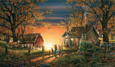 Morning Surprise Terry Redlin NEW Stretched Canvas AP 195 Signed 18.5x32 Dairy