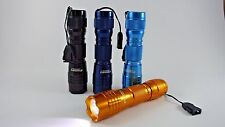 Discovery Adventures 1 mini aluminum led flashlight torch with key ring 4 colors