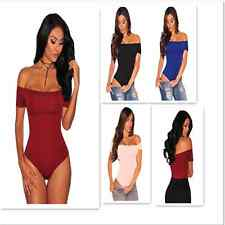 Sexy Women Lingerie Off Shoulder Hollow Out Jumpsuit Bodysuit Top Blouse Rompers