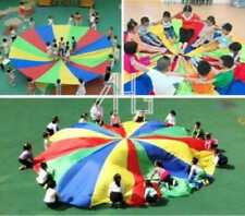 8-Handle 2/3M Kids Play Rainbow Parachute Outdoor Family Game Exercise Sport Toy