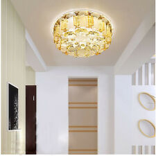 Modern 20cm 12W LED Crystal Ceiling Lights Aisle Lamp Chandeliers Fixture 9040HC