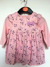 BNWOT Pretty Pink Dress with Matching Long Sleeve T Shirt  Age 6-24  Months