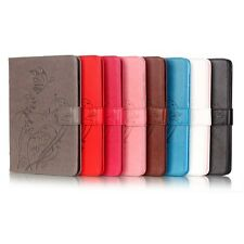 New Embossed Pattern Flip Stand PU Leather Card Slot Wallet Holder Case For iPad
