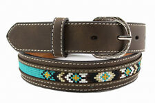 Nocona Western Boys Belt Kids Leather Overlay Diamond Concho Brown N4437402